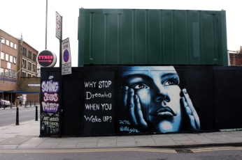 Street art on Cremer Street.