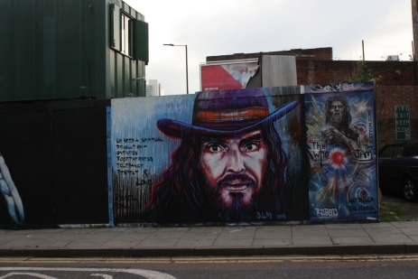 Russell Brand in Hoxton.