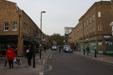 Broadway Market, an increasingly gentrified street, where a number of business owners have had to close up shop and move elsewhere.