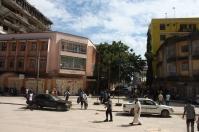 In front of Kariakoo market.