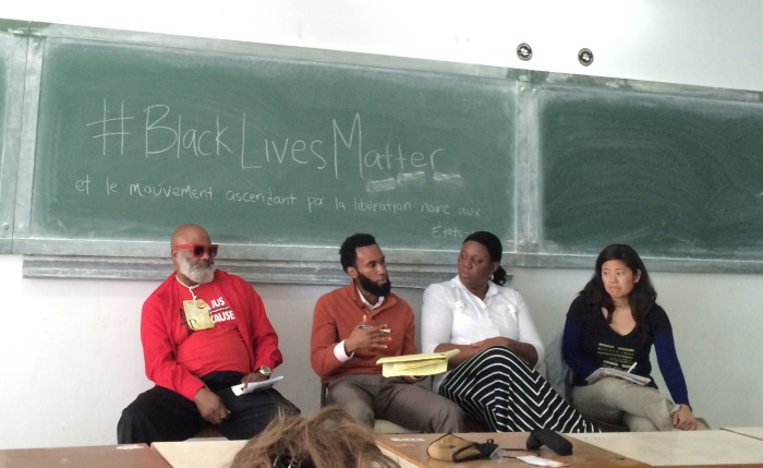 Activists at the #BlackLivesMatter event